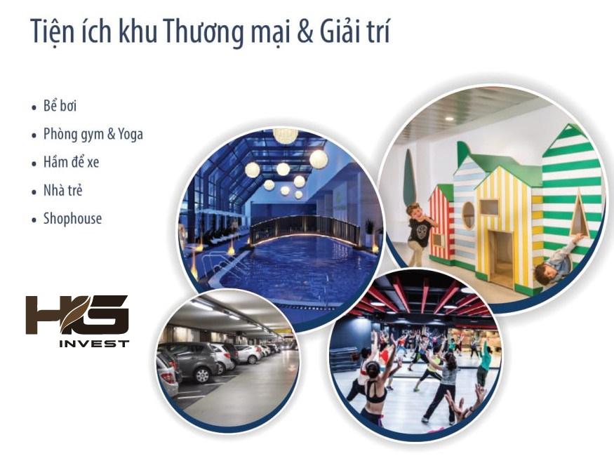 Tiện ích khu thương mại & giải trí Hoàng Huy Grand Tower