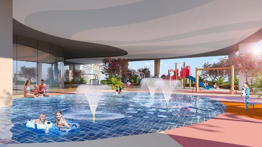 Bể bơi dự án Hoàng Huy Commerce