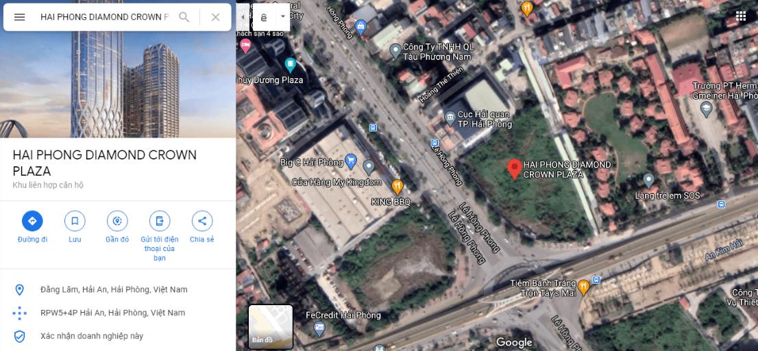 Vị trí dự án Chung cư Doji